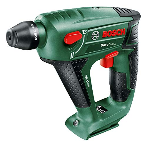 Bosch Akku Bohrhammer Uneo Maxx (ohne Akku, Karton (18 V, 2,5 Ah, Max. Bohr-Ø Stahl: 8 mm, Beton: 10 mm, Holz: 10 mm))