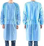 SpirWoRchlan 1/10 x indumenti di protezione dal virus, indumenti medici usa e getta contro l'epidemia di virus, tuta protettiva per indumenti personali, antipolvere, antistatica 1 pezzo