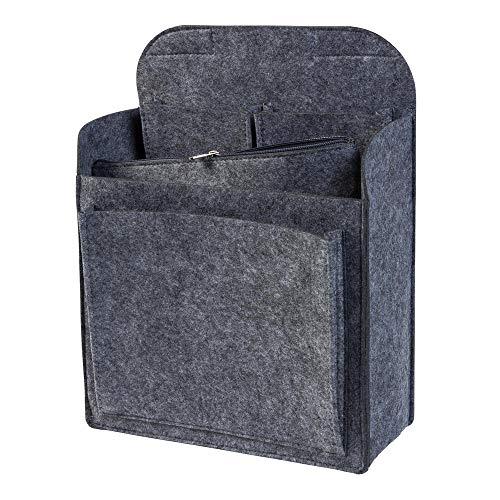 Rucksack Organizer mit herausnehmbarer Reißverschlusstasche aus Filz, grau (Farbe wählbar) | Einsatz für z.B. Fjallraven Classic