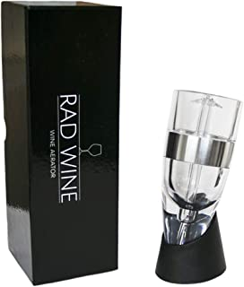 RAD WINE Aerator Decanter Pourer with No Drip Stand and Gift Box and Pouch