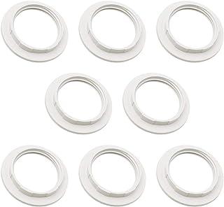 8 Piezas Reductor de Anillo de Pantalla de Lámpara E27 Convertidor Adaptador Anillo de Pantalla de Lámpara de Plástico (interior 38mm) Blanco