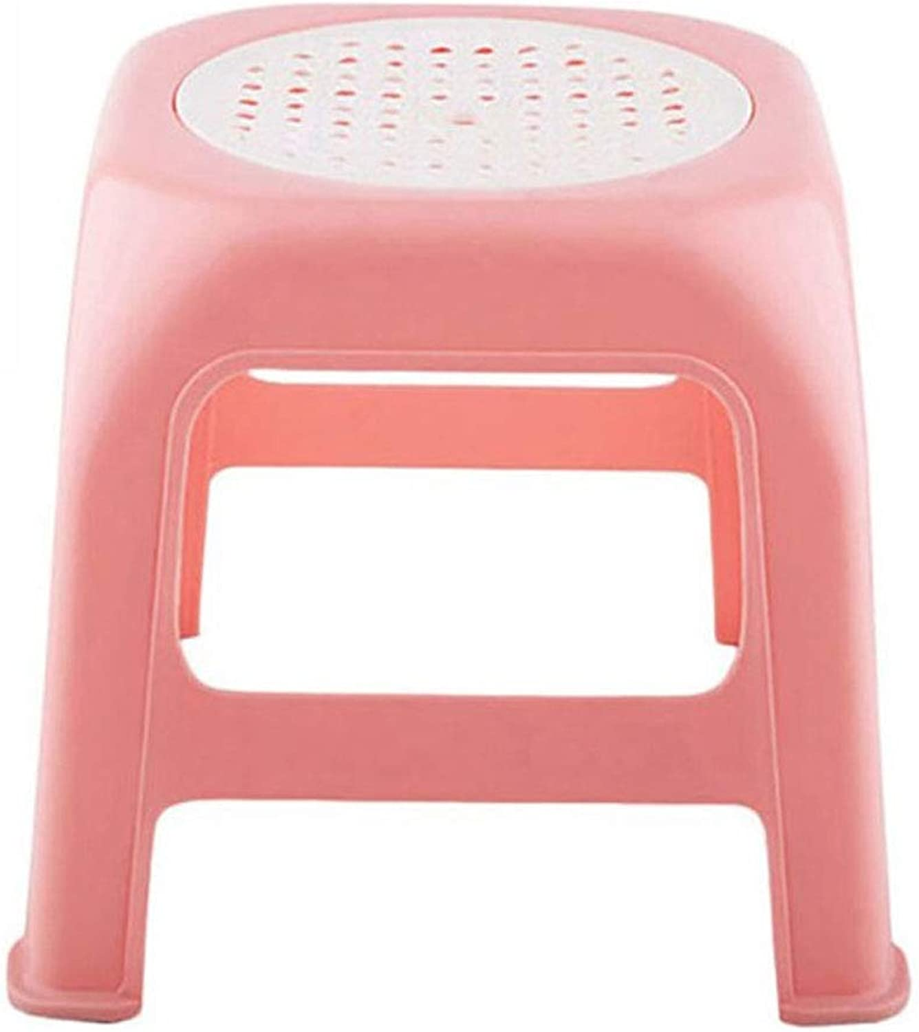 Stool Plastic Stool Thick Small Plastic Foot Stool for Kids and Adults Plastic Non-Slip Chairs Use in The Kitchen Bathroom and Bedroom 28 X28 X 26.5cm 01