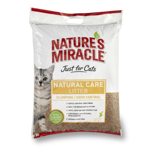 Nature's Miracle Odor Control Corn Cob Clumping Cat Litter, 18 lbs (5318)