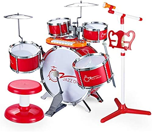 LINGLING-Trommel Drum Kinderpuzzle Batterie Power Percussion Umweltrot (Farbe   rot)