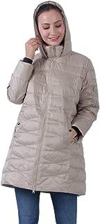 Womens Down Jackets, Hooded Lightweight Long Winter Puffer Coats XS-4XL