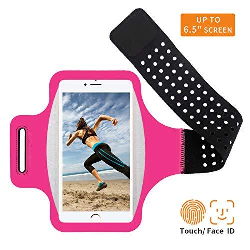 Sportarmband Handyhülle Kompatibel mit Huawei P20/P20 Lite, Schweißfest Handytasche Running Sport Armband Laufen Arm Tasche Universell für Joggen Laufen