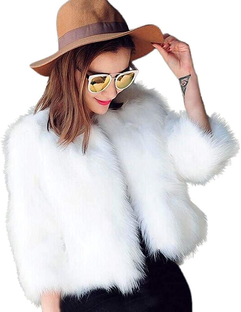 HGWXX7 Women's Winter Soft Fur Coat Faux Fur Cardigans Outerwear