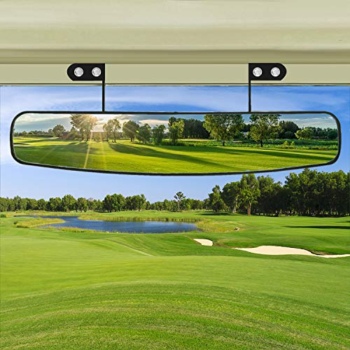 BETOOLL 16.5″ Wide Rear View Convex Golf Cart Mirror for EZ Go, Club Car, Yamaha