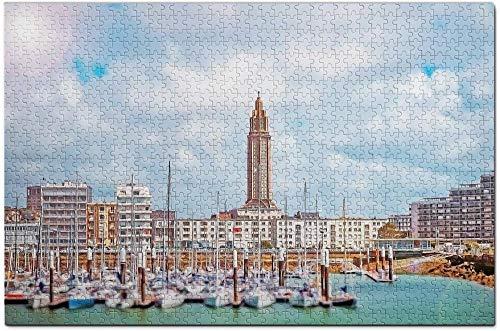LIXB 1000 Rompecabezas para Adultos, Le Havre, Francia, Rompecabezas Modernos, Decoraciones Modernas para el hogar, Juegos intelectuales y artesanías