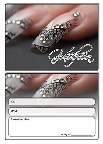 50 Gutscheine - Geschenkgutschein Nailart Grau Nails Nagelstudio