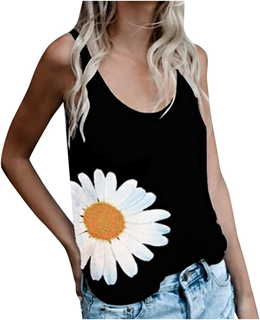 AODONG Tank Tops for Women, Womens Summer Casual Sleeveless Vest T Shirt 4th of July Workout Blouse Tank Top Tunic Tee