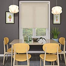 Blinds2Curtains Polyester Champagne 100 cm x 100 cm Audrey Textured Roller Blind