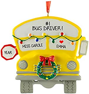 Ornaments School Bus Personalized Christmas Tree