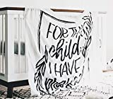 Little Honey Bee & Co. - Muslin Baby Swaddle Blanket - 1 Samuel 1:27 - for This Child I Have Prayed - Bamboo and Organic Cotton - Breathable - Machine Washable (47'x47')