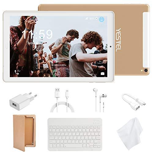 tablet 4 3 Tablet 10 Pollici con Wifi Offerte Tablet PC 4G LTE Dual SIM /WiFi tablet Android 8.0 con 3GB di RAM e 32GB ROM Batteria 8000mAh-(Sblocco Facciale