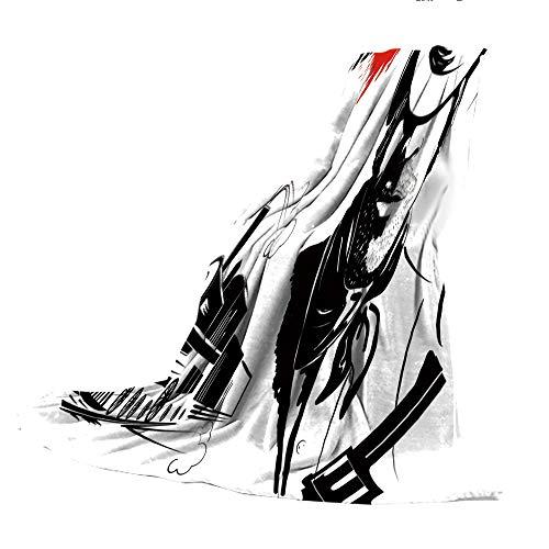 SCOCICI Canvas ShoesSilhouette of a Woman Girl Portrait Fashion Shoes Sneaker
