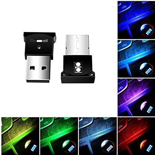 Luces LED para el interior del coche USB, Asudaro Coche USB Luz...