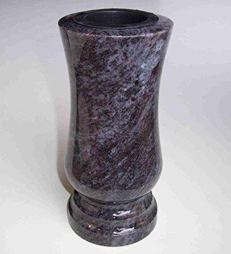 Vase funéraire designgrab - Classique - Taille moyenne - En granit - Orion Blue, Coromandel, Bahama Blue - Décoration de pierre tombale