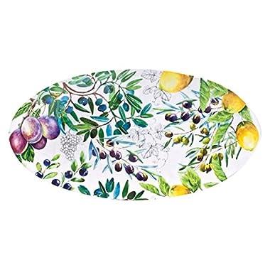 Michel Design Works Melamine Oval Serving Platter, Tuscan Grove