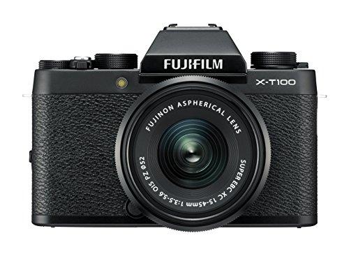Fujifilm X-T100  - Cámara digital, objectivo XC15-45mm, F3.5-5.6 OIS PZ, Negro