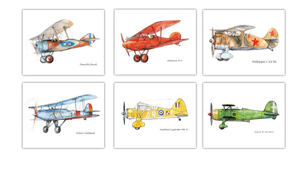 Transportation Indefinitely Aviation Art Set Prints free shipping 6 Choice Custom