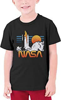 Weibing Boys NASA Starry Night T-Shirts Cotton Short Sleeve Youth Kids Top Tees