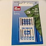 Prym Machine Agujas para Quilting Este paquete contiene cinco agujas y son tamaños 75 y 90 (11 y 14).