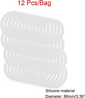 12pcs Wide Mouth Mason Jar Lids,Replacement Tinplate Bands Rings Canning Lids for Wide Mouth Jar 70mm 86mm
