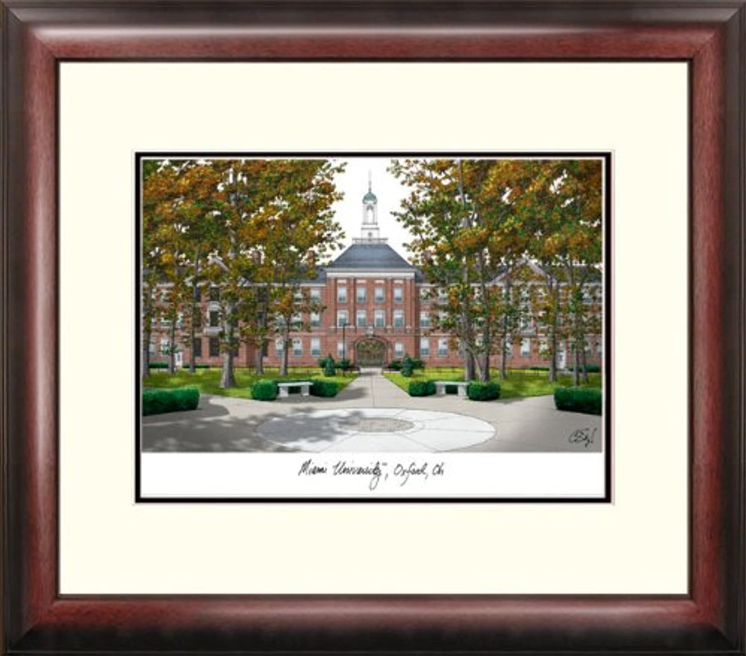 NCAA Miami (Ohio) Redhawks Alumnus Framed Lithograph