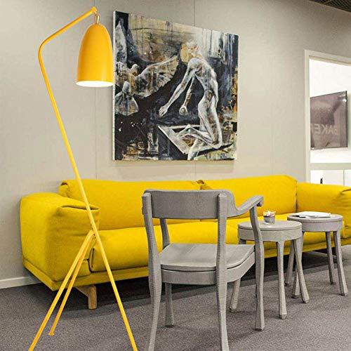 WANGIRL Nordische Moderne Studie Schlafzimmer Wohnzimmer Essbereich Nacht Kunst Vertikale Dreibeinige Stativ Stehlampe,Gelb