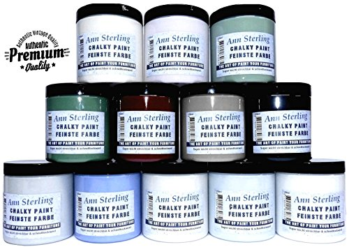 Ann Sterling Kreidefarbe Shabby Chic Farbe: 250ml. Lack Chalky Paint (Chalky White)