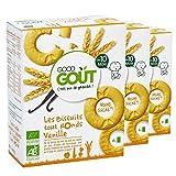 Runde Bio-Vanillekekse ab 10 Monaten, 80 g (pack of 3)