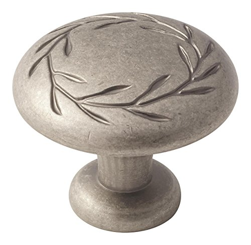 Amerock BP15812WN Nature's Splendor 1-3/4 in (44 mm) Diameter Weathered Nickel Cabinet Knob Amerock Nature Cabinet Knob