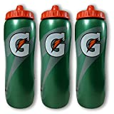Gatorade 32 Ounce Contour Style Squeeze Water Bottle, 3 Pack