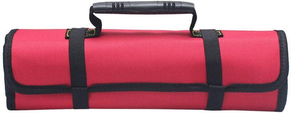 Multi Purpose 22 Pocket Reel Rolling Tool Bag Screwdriver Spanne