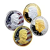4 Pcs 2020 Trump Coin Keep America Great Challenge Coin - American Eagle Commemorative Coin 41mm Stunning Proof Coin Re-Election Gift Edition Series (4 PCS)