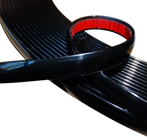 AERZETIX: 12mm 4.5mTira Adhesiva para Decoracion Colorado Negro para Auto transporta en Coche Moto