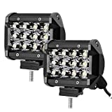 AllExtreme 12 LED Fog Spot Beam Light Cube Bar with Mounting Bracket for Car Motorcycle Off Road...
