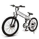 SAMEBIKE Bicicleta de Montaña Eléctrica Plegable, Bicicletas Eléctricas para Adultos Motor sin Escobillas 500W, con...
