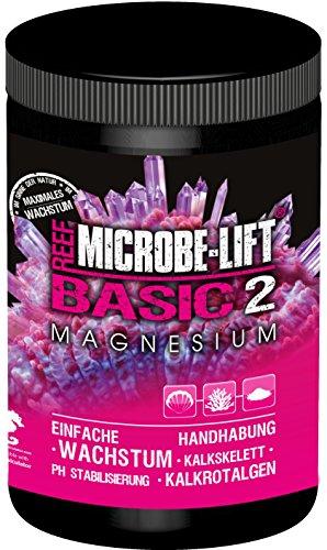 MICROBE-LIFT Basic 2 Magnesium - Magnesiumzusatz für jedes Meerwasseraquarium, Pulverform, zur optimalen Korallenversorgung, auch verwenbar für die Balling-Methode, 1000g