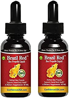 Brazil Red Bee High Concentrate Propolis Liquid (45 ML) - 2 Bottles