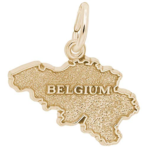 Rembrandt Charms Belgium Charm, 14K Yellow Gold