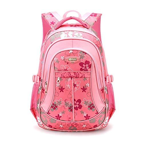 Mädchen Süße Mode Backpackage Verschleißfest Wasserdicht Schüler Schulranzen (Pink).