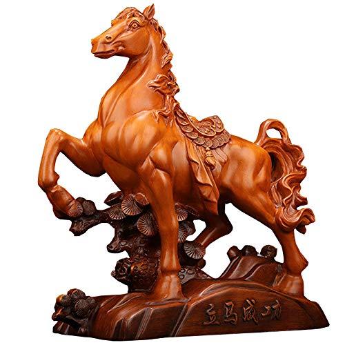 Ybzx Decoración de Estatua de Caballo Feng Shui, Escultura de Animal, decoración de Mesa para el hogar, Escultura, Riqueza, Carrera, Suerte, Figura Decorativa, colección de Regalos de Negocios, D