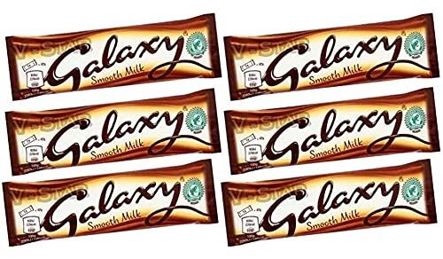 FULL BOX OF GALAXY STANDARD CHOCOLATE BARS (GALAXY SMOOTH MILK (24 x 42g))