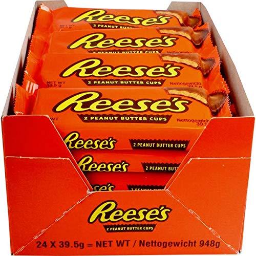24 Beutel a 39,5g Reese´s Peanut Butter Cups Hersey Company Erdnussbutter mit kakaohaltiger Glasur