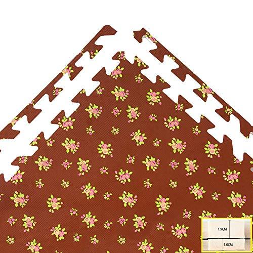 ZTMN Foam Puzzel Mat Jigsaw Puzzle Tapijt Thuis Kind Dikke Interlocking Vloeren Tegels Slaapkamer Woonkamer Vloermatten Kleur Vrij Combineerbaar (Kleur : B, Maat : 30x30x1cm-24st)