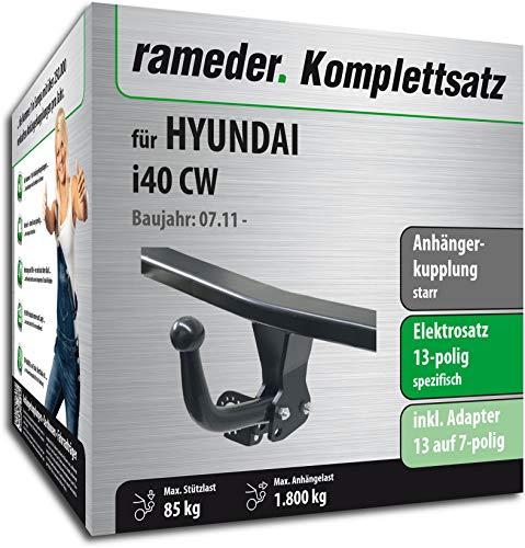 Rameder Komplettsatz, Anhängerkupplung starr + 13pol Elektrik für Hyundai i40 CW (150802-09650-1)