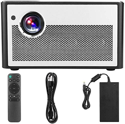 ZLSANVD 3D Projector H1 3D HD 1080P DLP Home Outdoor Mini Projector Multi-function Support 3D DLP-Link 1080P Full HD Input Compatible TV Stick TVbox Smartphone