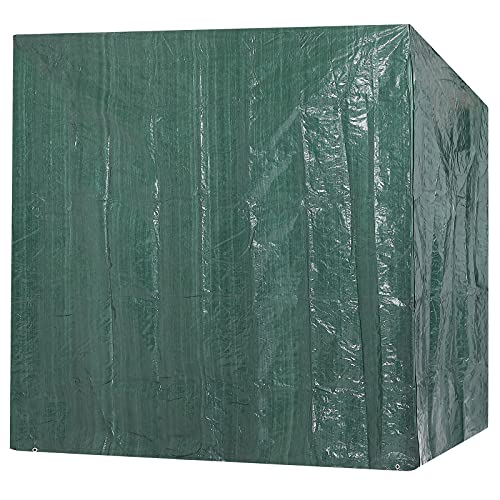 Kingsleeve Hollywoodschaukel Schutzhülle 2 Reißverschlüsse 185 x 117 x 170 cm Gartenschaukelabdeckung Plane Abdeckung Abdeckhaube